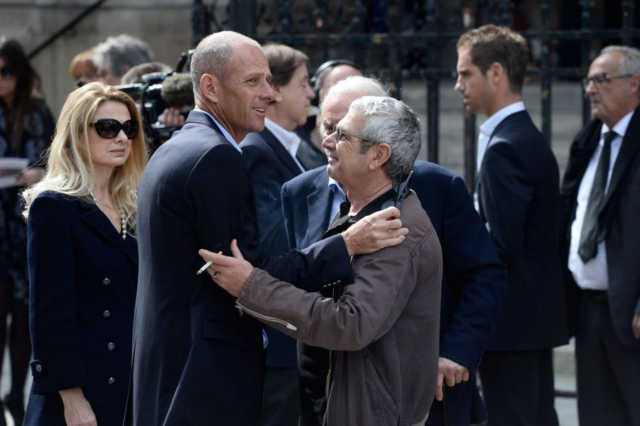 Guy Forget et Michel Boujenah à Paris le 16 avril 2015