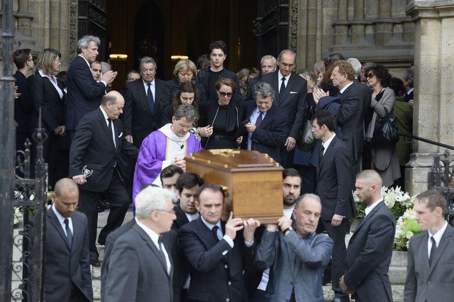 Les obsèques de Patrice Dominguez célébrées à la basilique Sainte-Clotilde de Paris, le 16 avril 2015