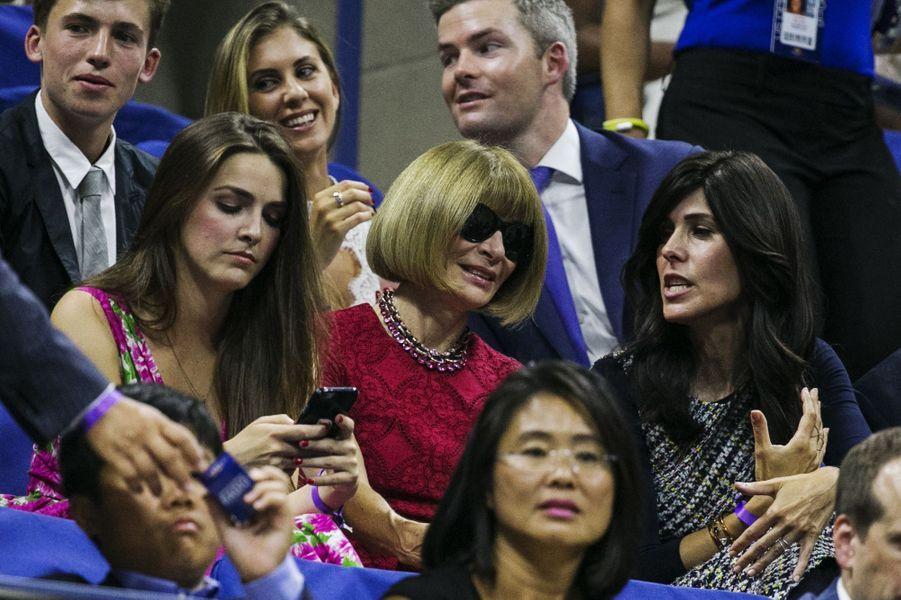 Anna Wintour de «Vogue» dans les tribunes pour soutenir Serena Williams à l'US Open lundi dernier.