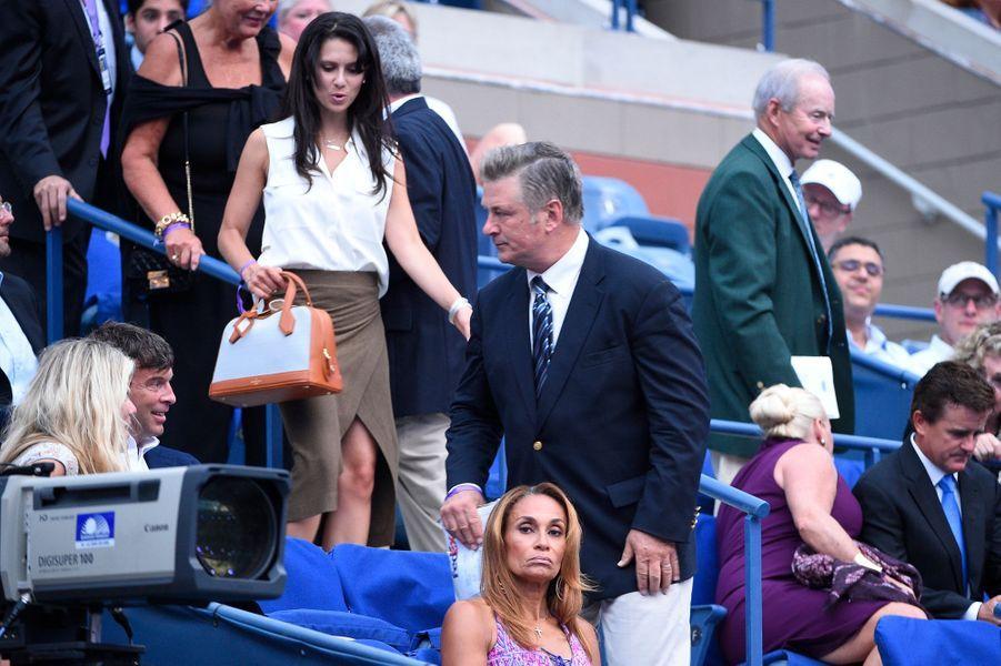 L'acteur Alec Baldwin soutient Serena Williams à l'US Open 2015 lundi dernier.