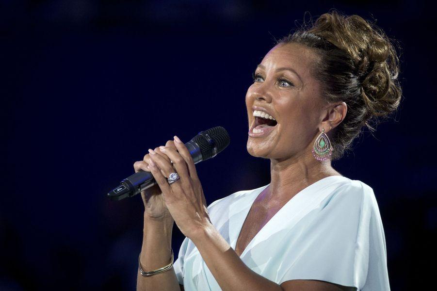 La chanteuse Vanessa Williams lors de la cérémonie d'ouverture de l'US Open 2015 le 31 août dernier.