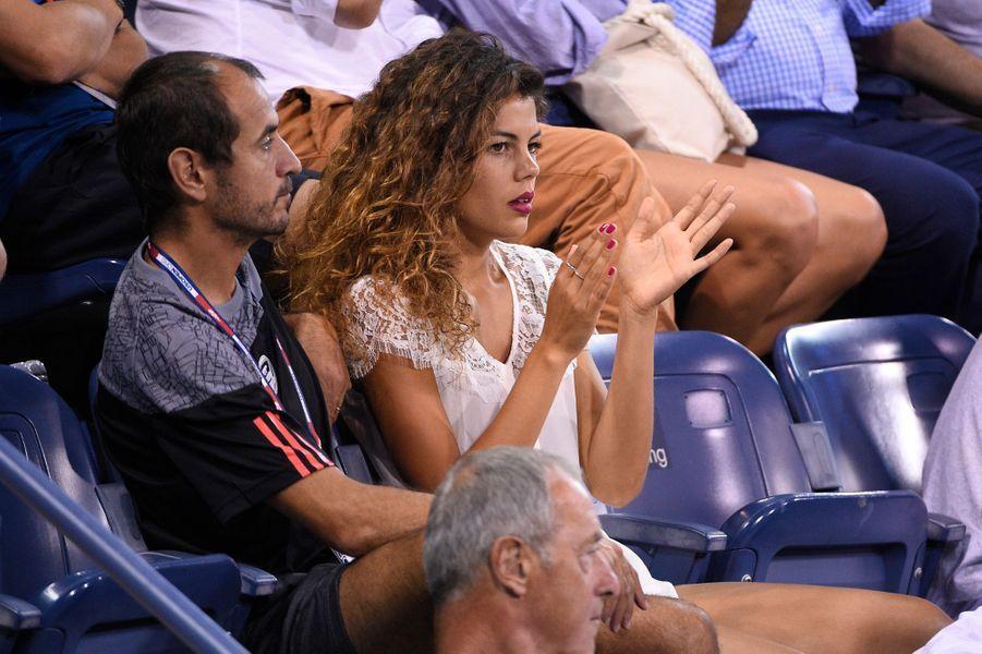 Noura El Swekh, la compagne de Jo-Wilfried Tsonga, à l'US Open mercredi dernier.