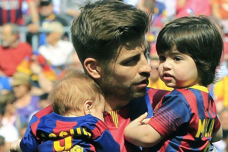 Gerard Piqué et ses fils Milan et Sasha