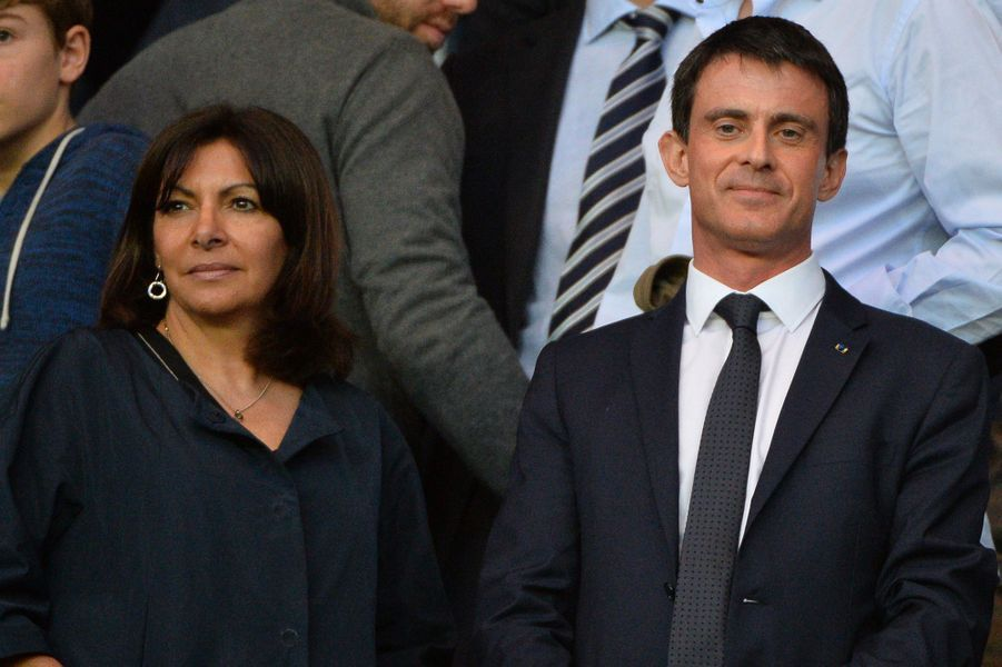 Anne Hidalgo et Manuel Valls à Paris le 15 avril 2015