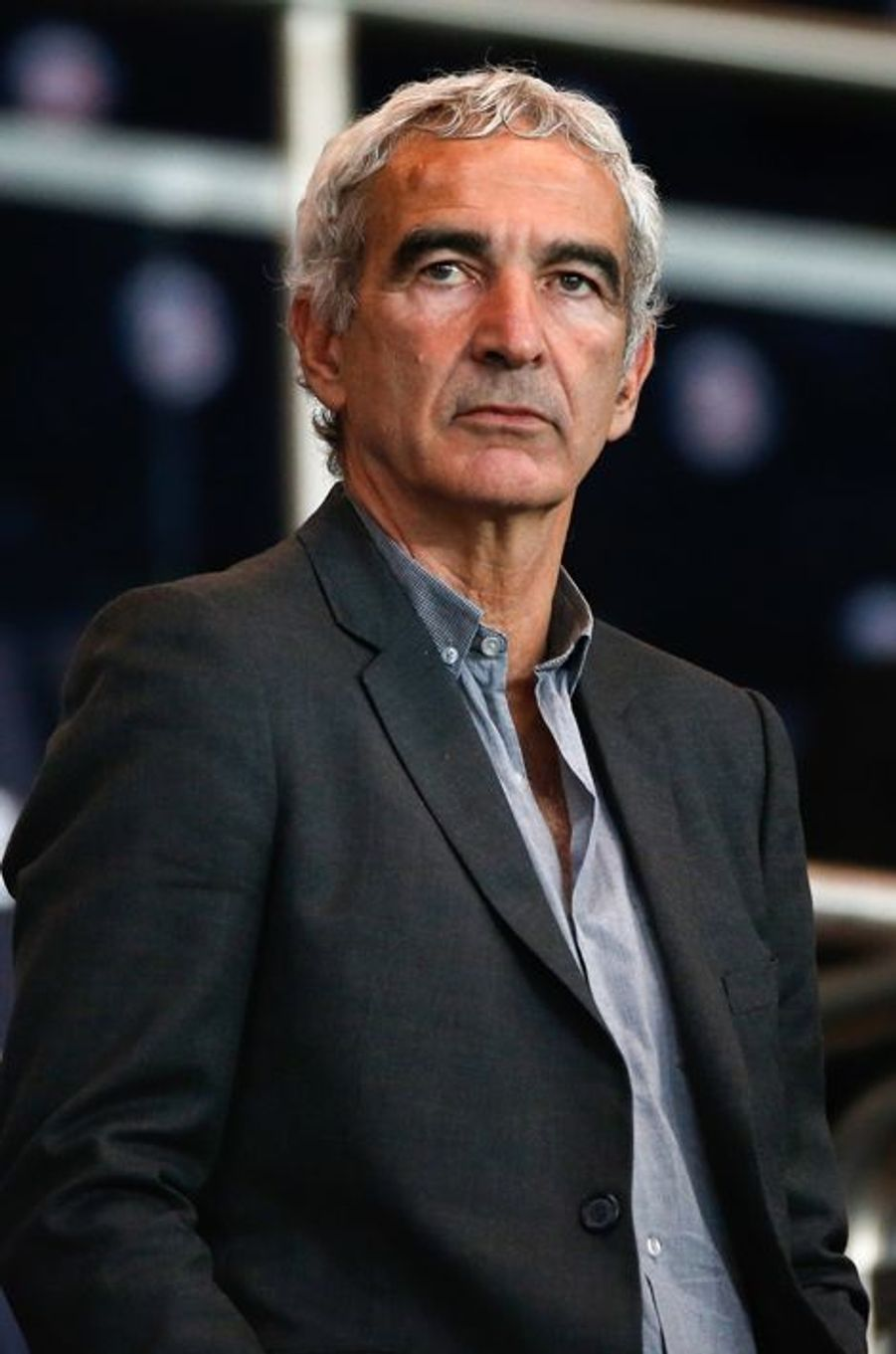 Raymond Domenech à Paris le 15 avril 2015