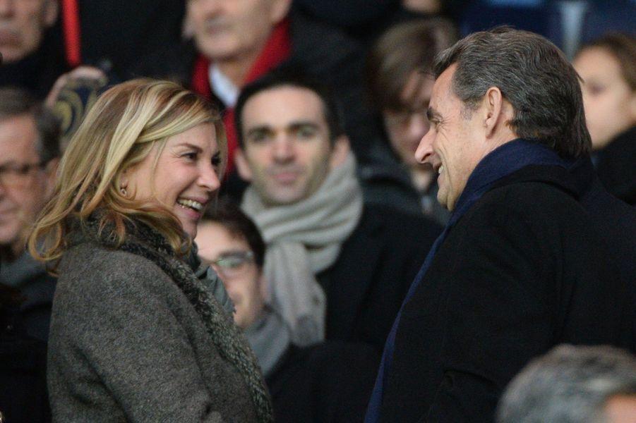 Michèle Laroque et Nicolas Sarkozy