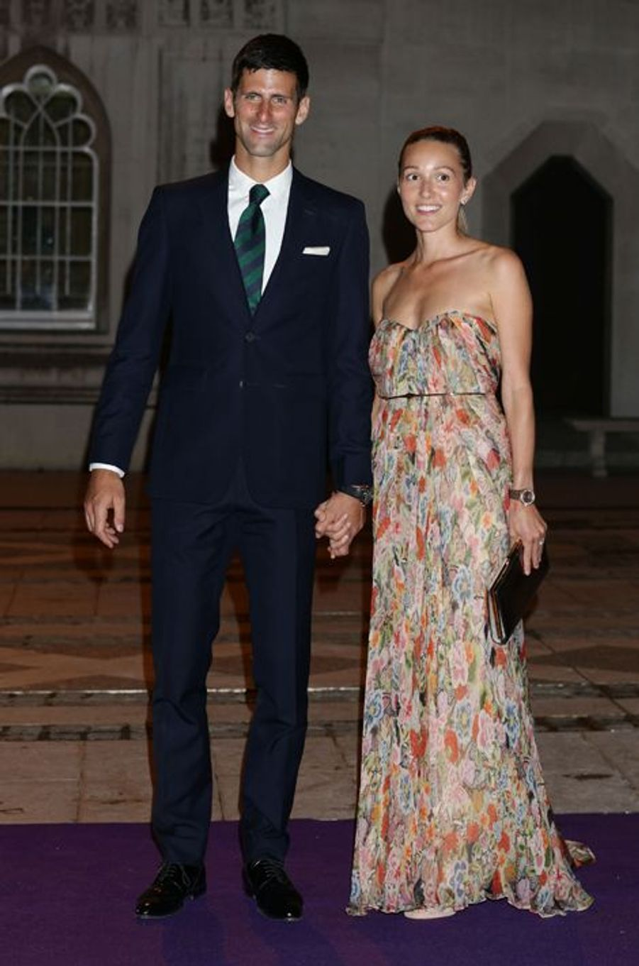 Novak et Jelena Djokovic à Londres le 12 juillet 2015