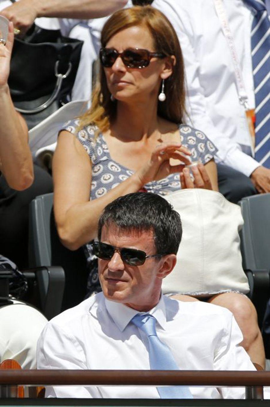 Le Premier ministre, Manuel Valls, et son épouse