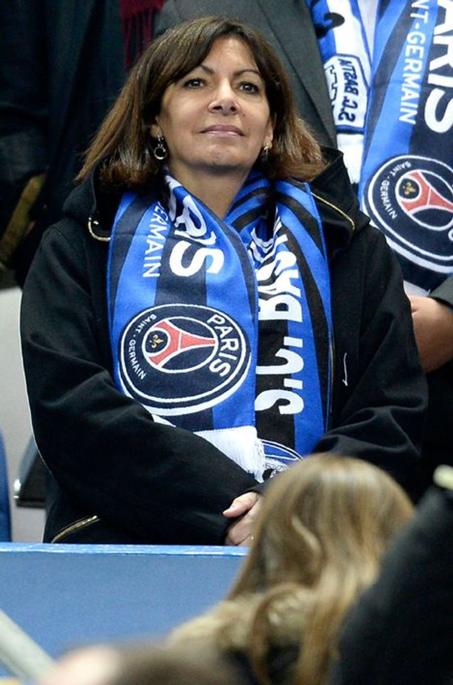 Anne Hidalgo au Stade de France, le 11 avril 2015