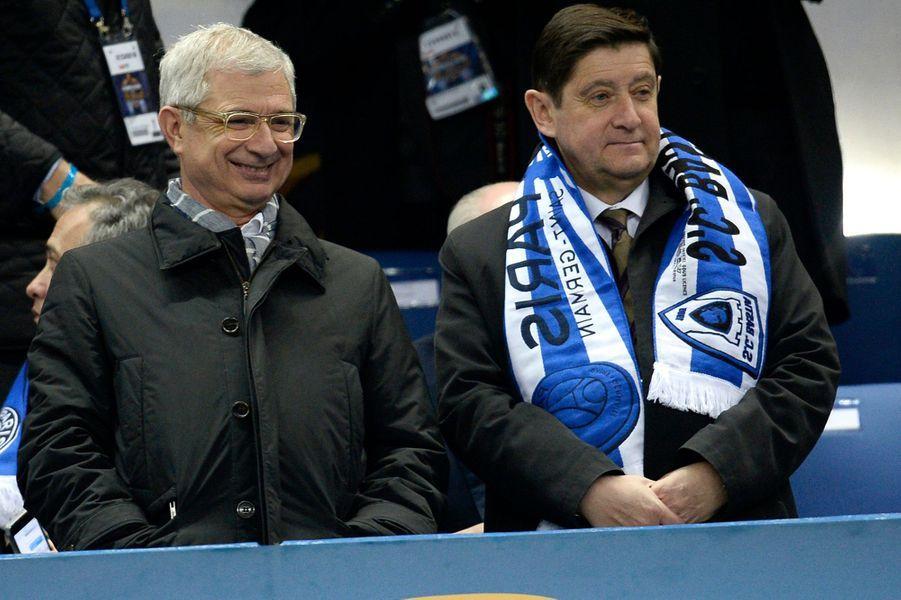 Claude Bartolone et Patrick Kanner au Stade de France, le 11 avril 2015