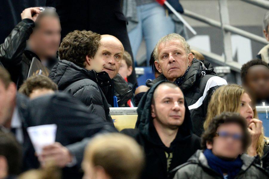 Patrick, Olivier et François Poivre d'Arvor au Stade de France, le 11 avril 2015