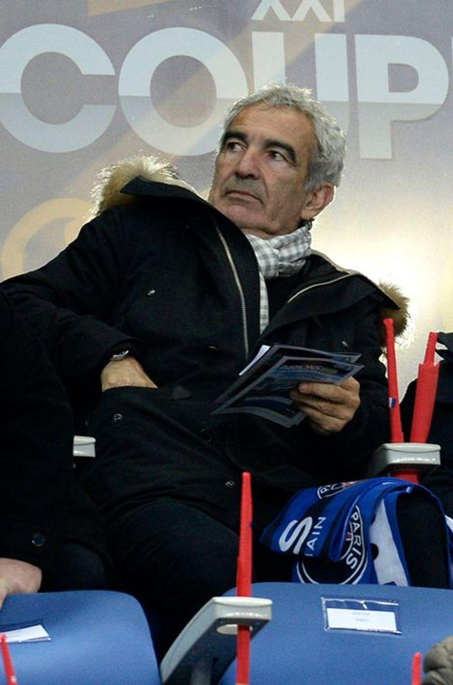 Raymond Domenech au Stade de France, le 11 avril 2015