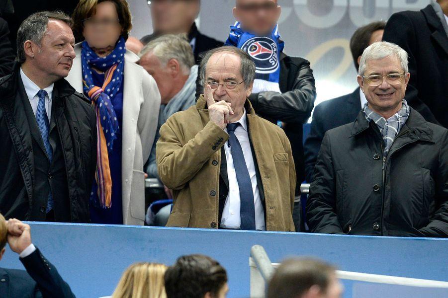 Thierry Bartolone, Noël Le Graët et Claude Bartolone au Stade de France, le 11 avril 2015