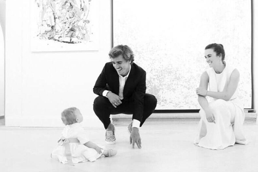Erika Choperena, Antoine Griezmann et leur fille Mia