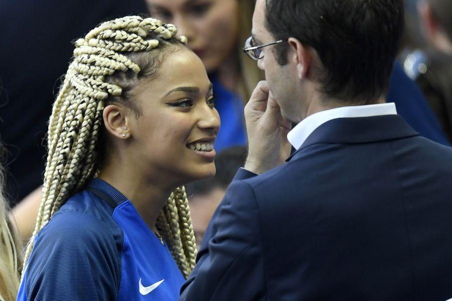 Sephora, la compagne de Kingsley Coman, au Stade de France pour la finale de l'Euro.