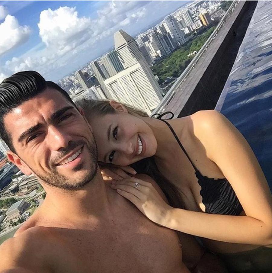Graziano Pelle et sa compagne, Viktoria Varga.