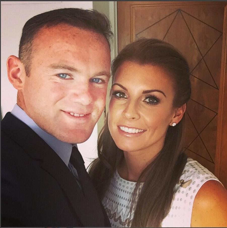 Wayne Rooney et sa compagne, Coleen Rooney.