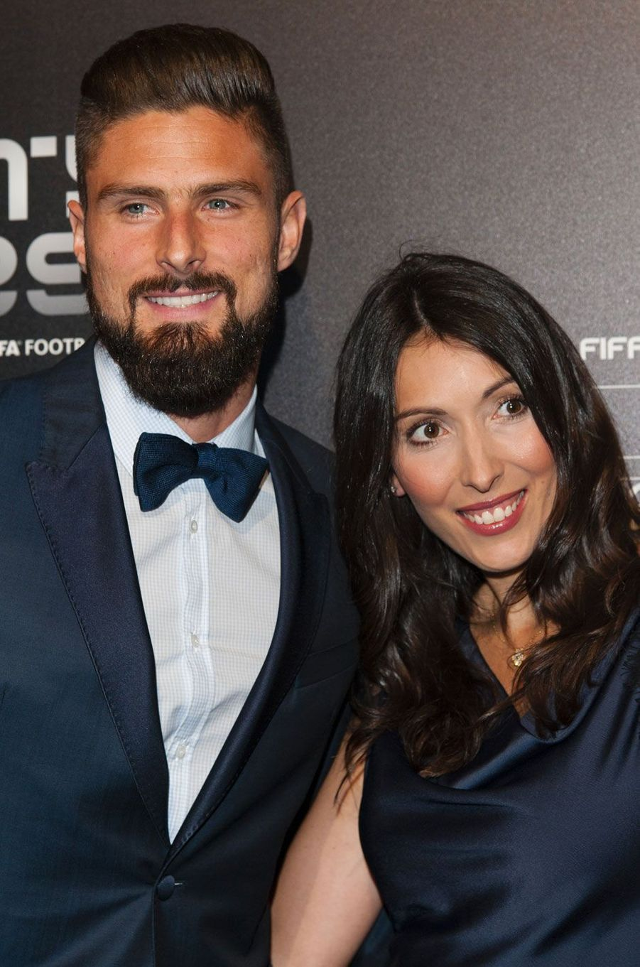 Olivier et Jennifer Giroud au Football Awards 2017 à Londres, le 23 octobre 2017