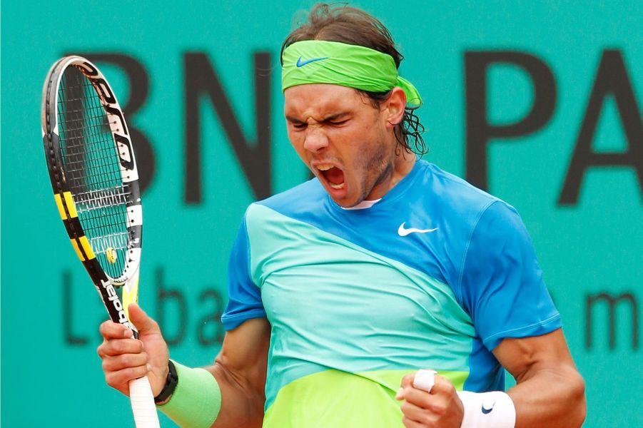 Rafael Nadal à Roland-Garros en 2010.