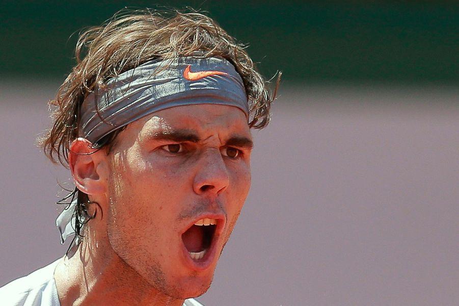 Rafael Nadal à Roland-Garros en 2013.