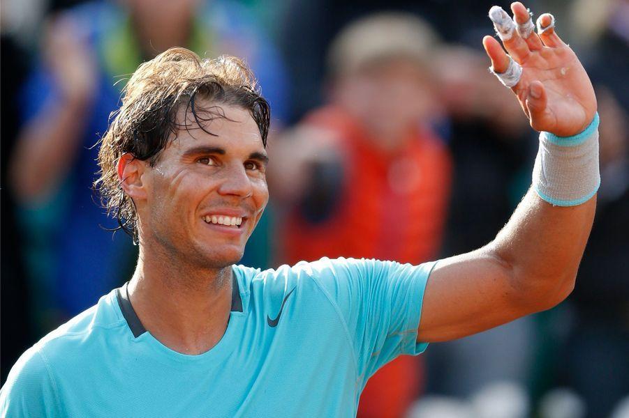Rafael Nadal à Roland-Garros en 2014.