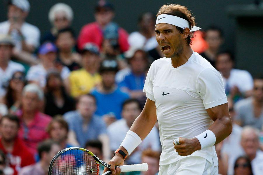 Rafael Nadal à Wimbledon en 2015.