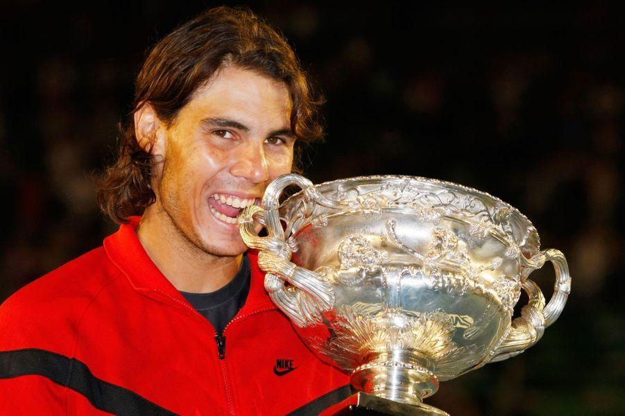 Rafael Nadal, vainqueur de l'Open d'Australie en 2009.