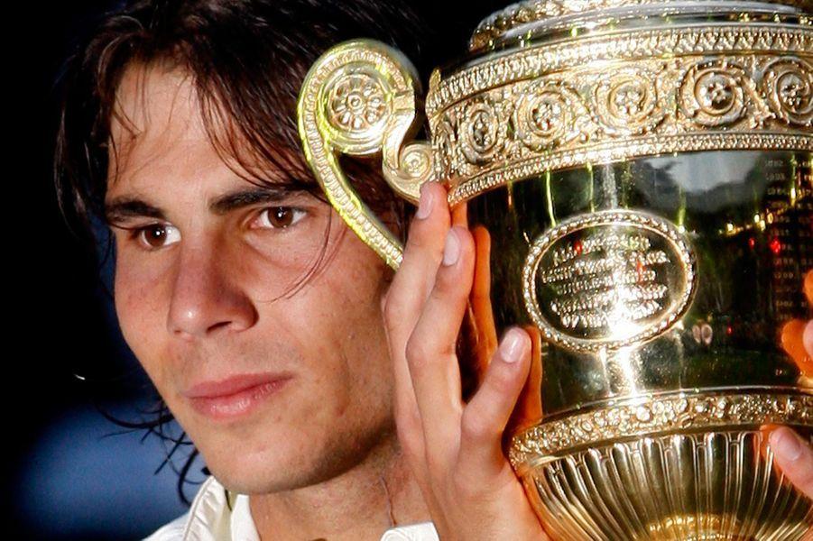 Rafael Nadal, vainqueur de Wimbledon en 2008.