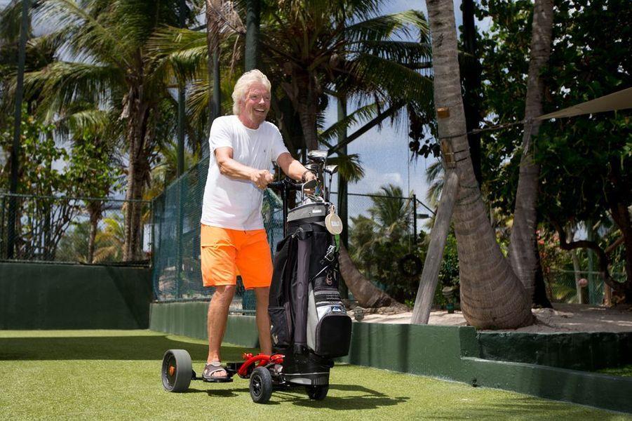Richard Branson, caddie de luxe