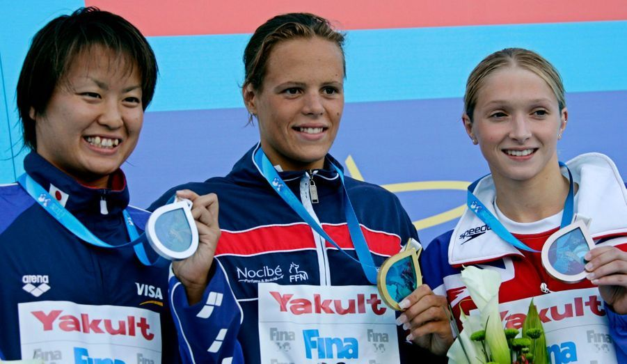 A Montréal, elle devient championne du monde sur 400 mètres nage libre.