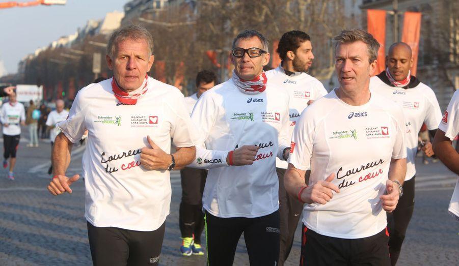 Patrick Poivre d'Arvor, Paul Belmondo et Philippe Caroit
