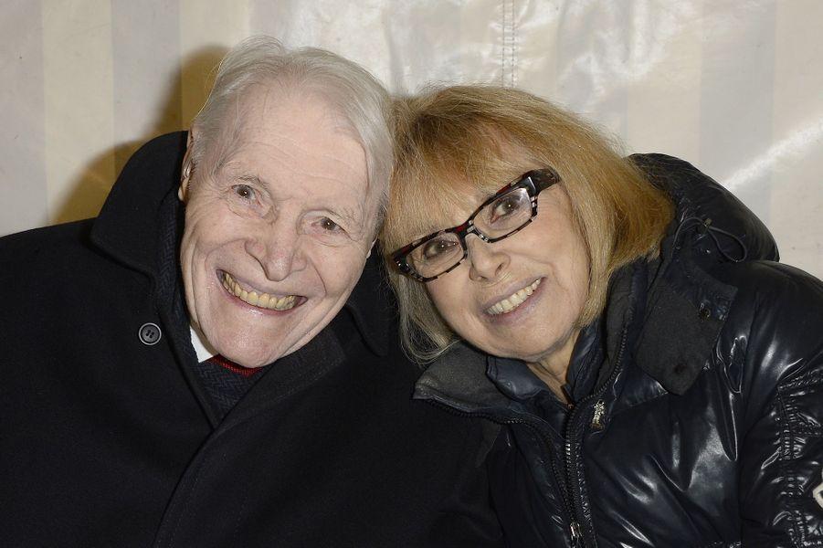 Christian Cabrol et Mireille Darc à Paris le 30 mars 2016