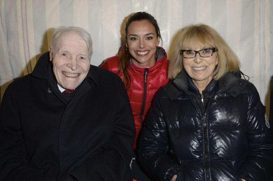 Christian Cabrol, Marine Lorphelin et Mireille Darc à Paris le 30 mars 2016