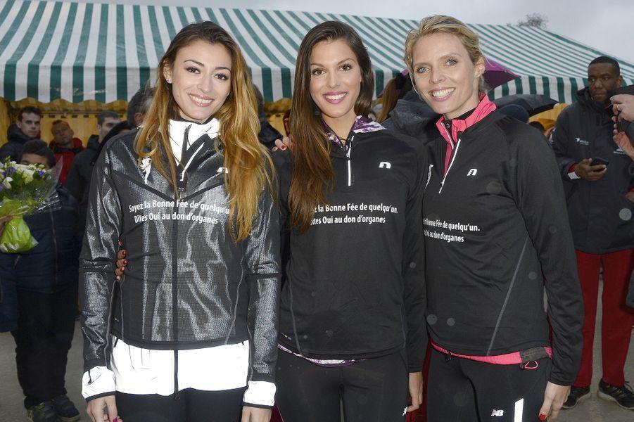 Rachel Legrain-Trapani, Iris Mittenaere et Sylvie Tellier à Paris le 30 mars 2016