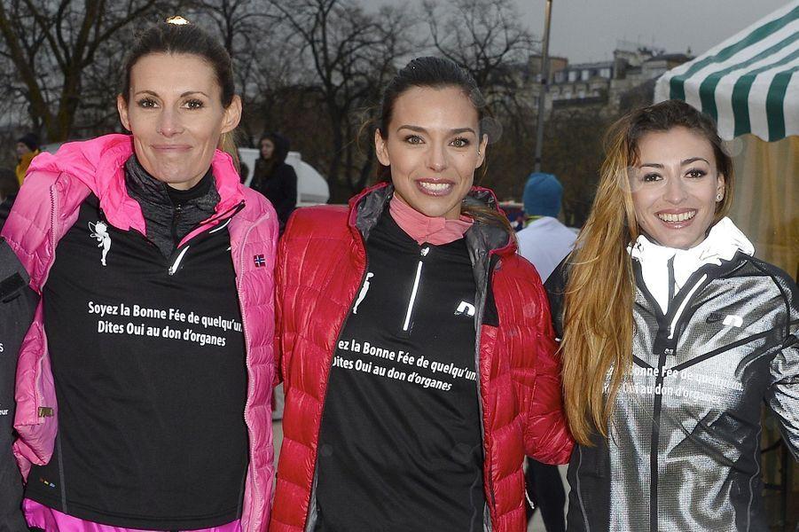 Sophie Thalmann, Marine Lorphelin et Rachel Legrain-Trapani à Paris le 30 mars 2016