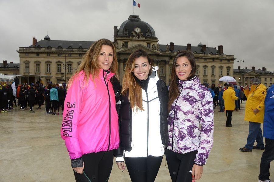 Sophie Thalmann, Rachel Legrain-Trapani et Iris Mittenaere à Paris le 30 mars 2016