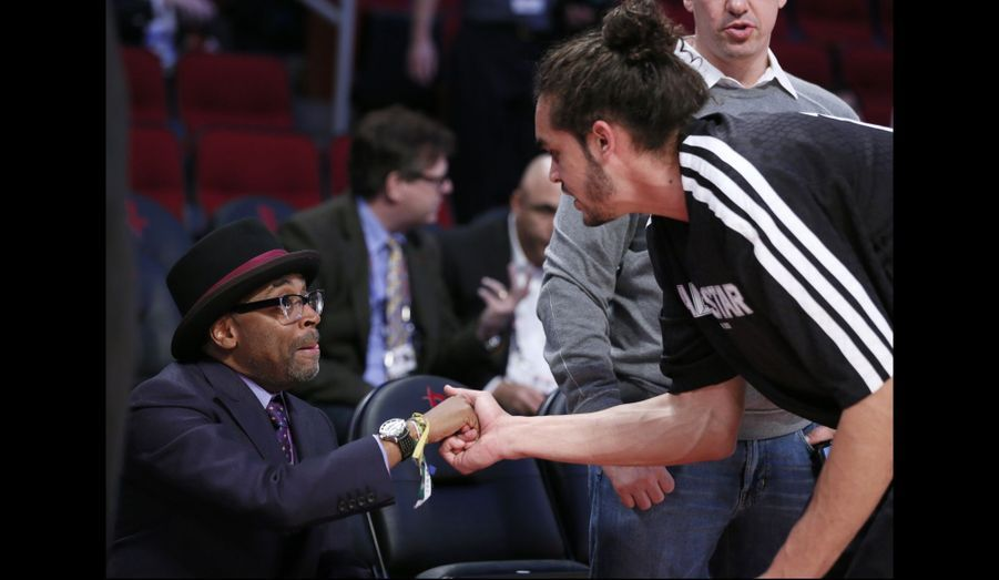 Spike Lee et Joakim Noah