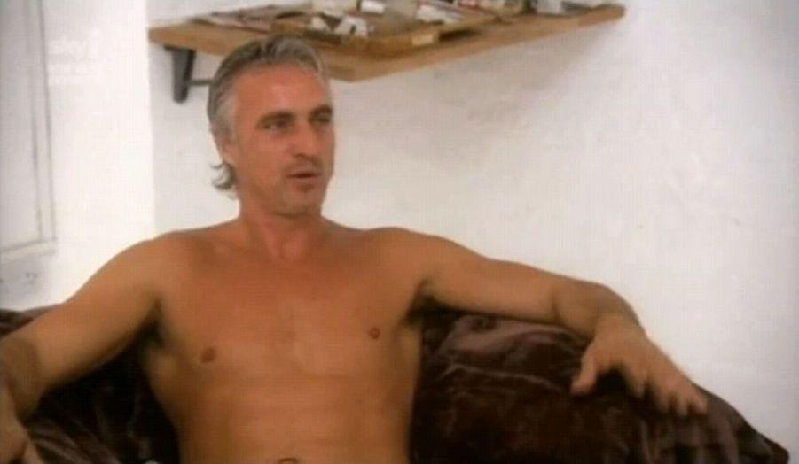 David Ginola, l'ancien attaquant du PSG et de Newcastle a posé nu dans une émission de télévision britannique.