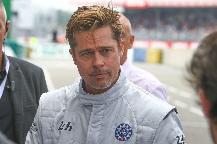 Brad Pitt aux 24h du Mans, le 18 juin 2016