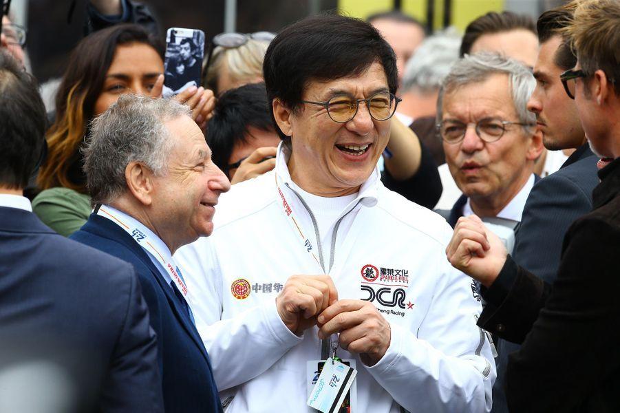 Jackie Chan aux 24h du Mans, le 18 juin 2016