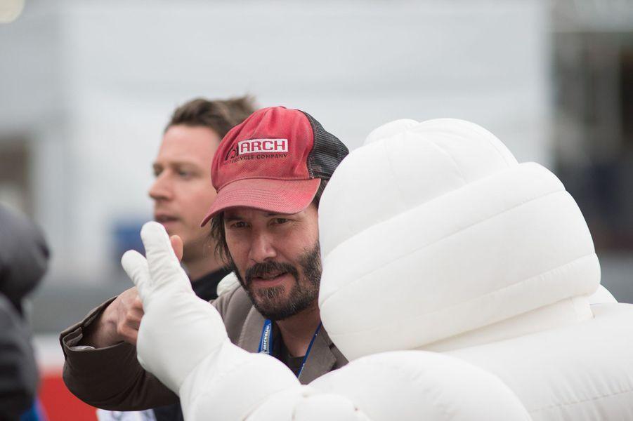 Keanu Reeves aux 24h du Mans, le 18 juin 2016