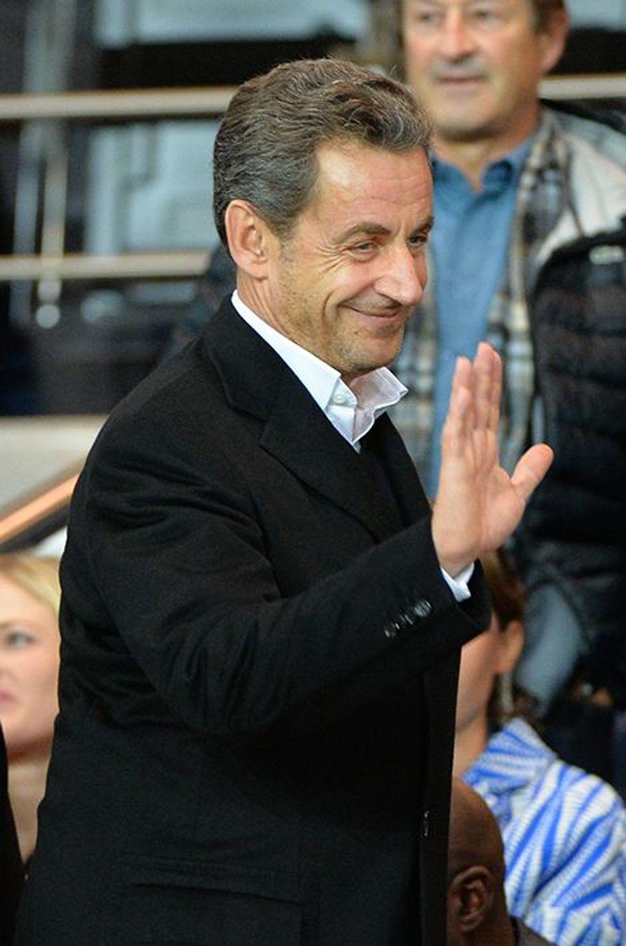 Nicolas Sarkozy au Parc des Princes le dimanche 5 octobre 2014