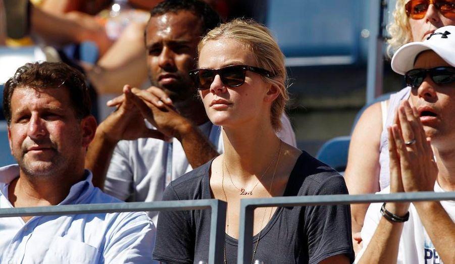 La femme du tennisman américain Andy Roddick est venu encourager son mari, qui a malheureusement perdu au deuxième tour.