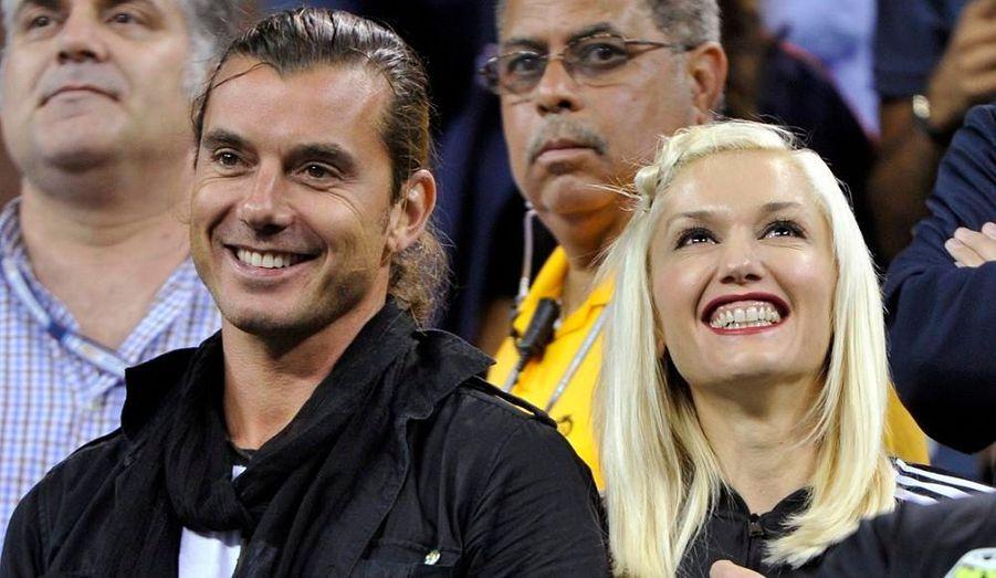 Gwne Stefani et son mari Gavin Rossdale se sont levés pour saluer la victoire de Federer sur Melzer.
