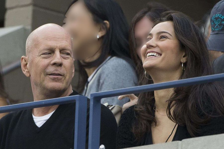 Bruce Willis et sa femme Emma Heming à la finale de l'US Open à New York, le 8 septembre 2014.