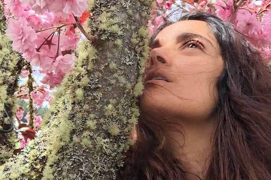 Salma Hayek sans maquillage.