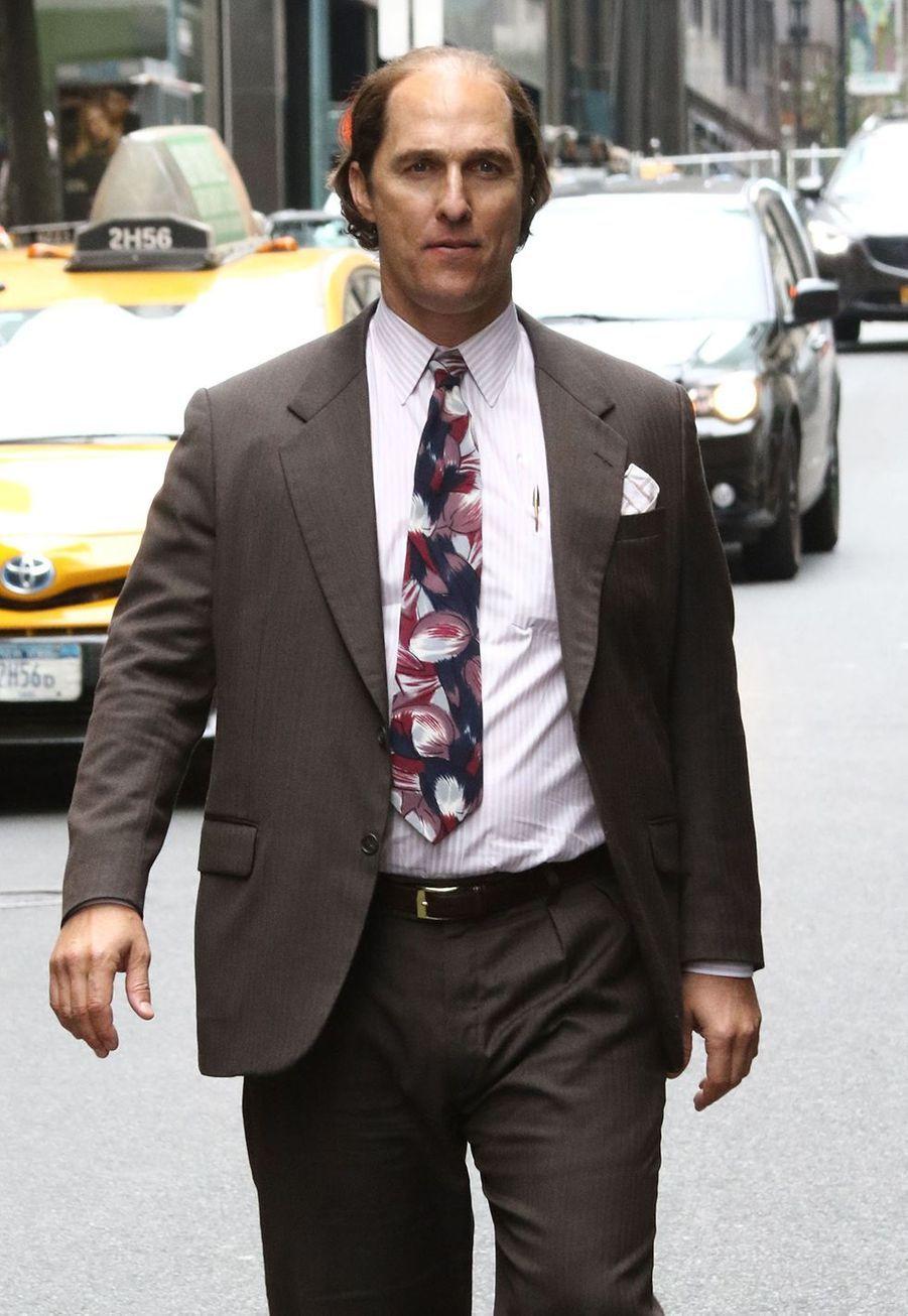 Matthew McConaughey sur le tournage de «Gold» en 2015