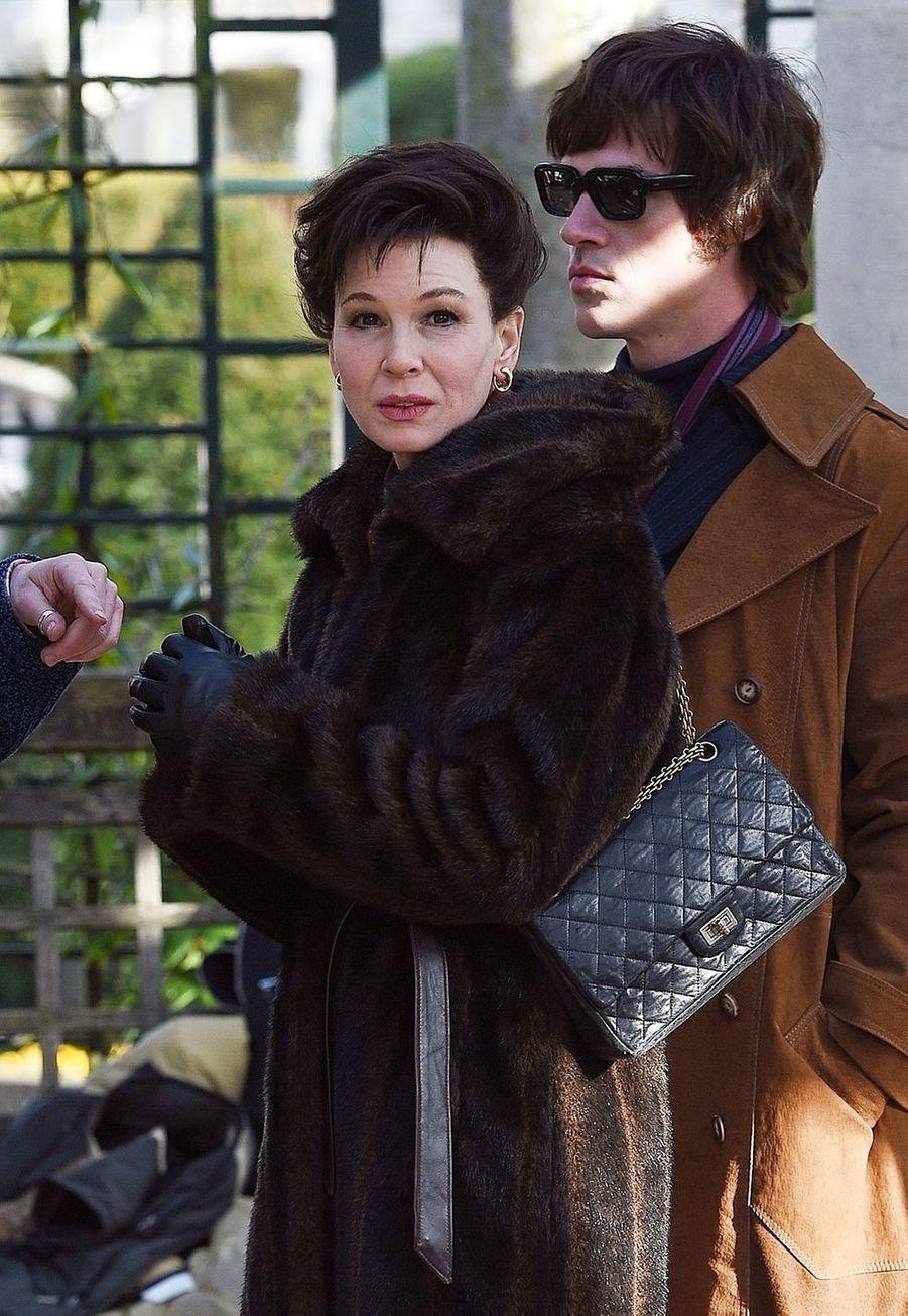 Renée Zellweger sur le tournage de «Judy» en 2018