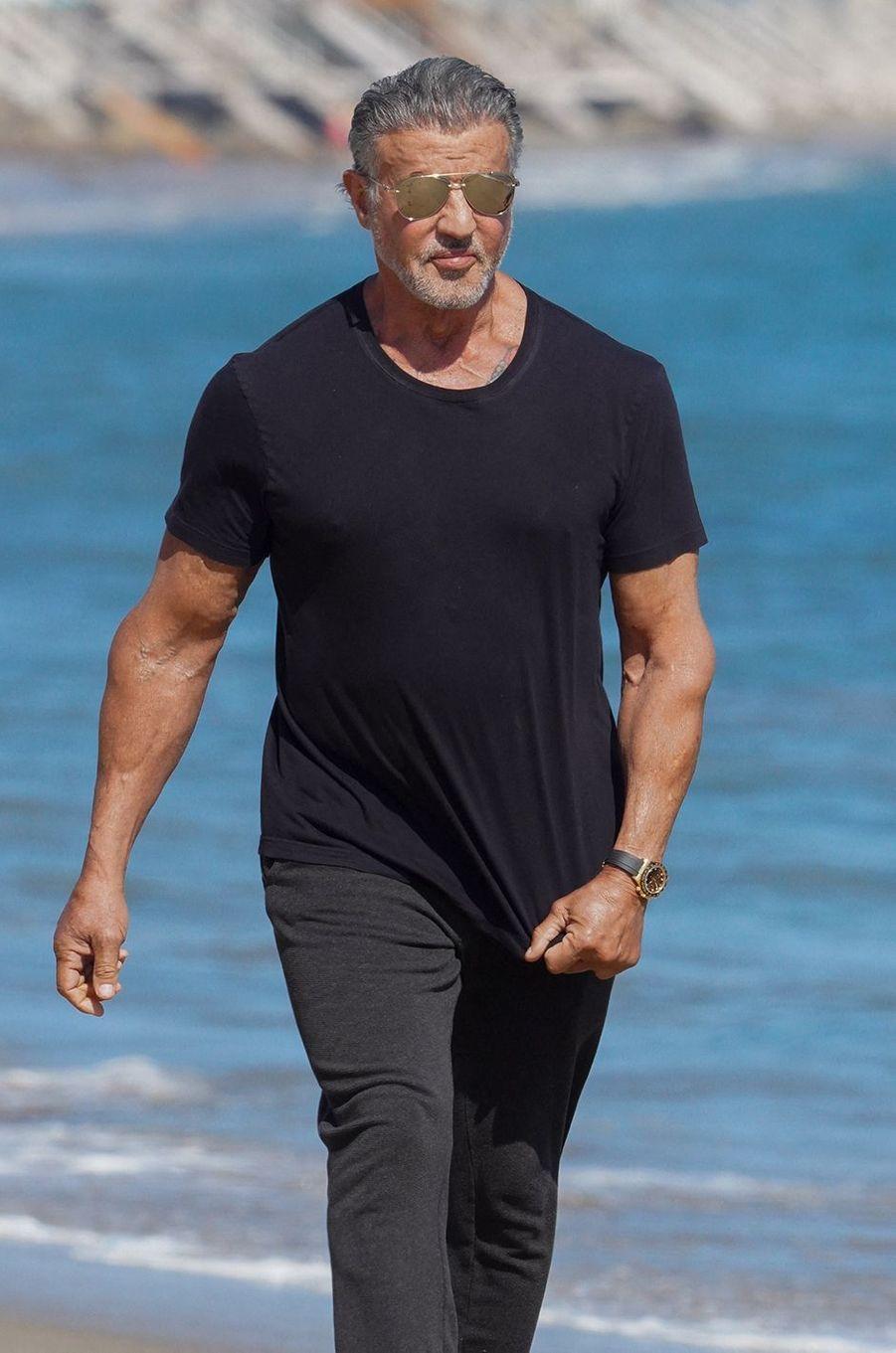 Sylvester Stallone à Malibu le 7 août 2020