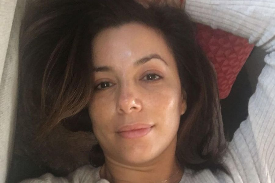 Eva Longoria dans son lit.